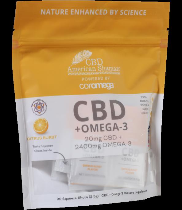 CBD & terpén omega-3 emulzió